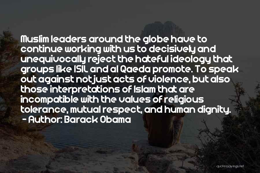 Tolerance And Respect Quotes By Barack Obama
