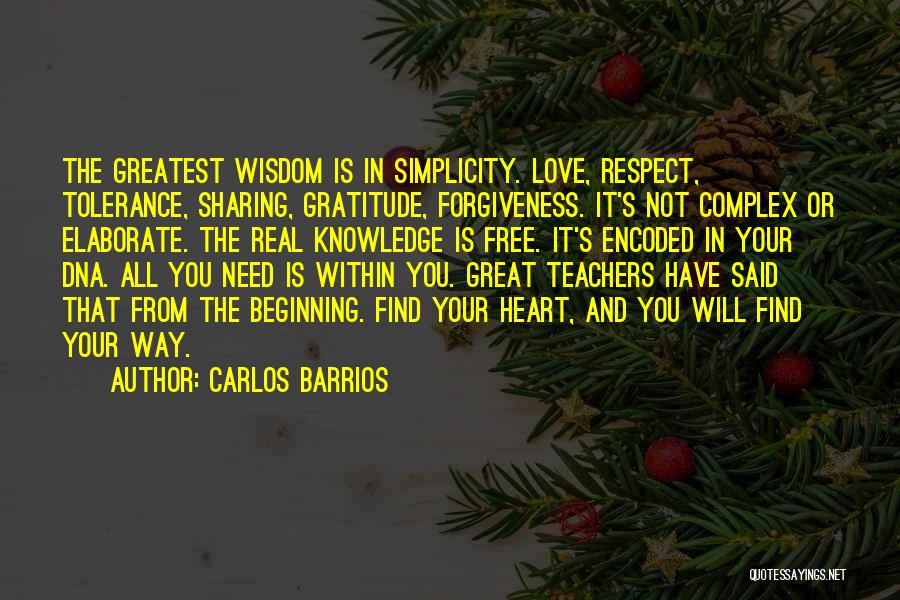 Tolerance And Respect Quotes By Carlos Barrios