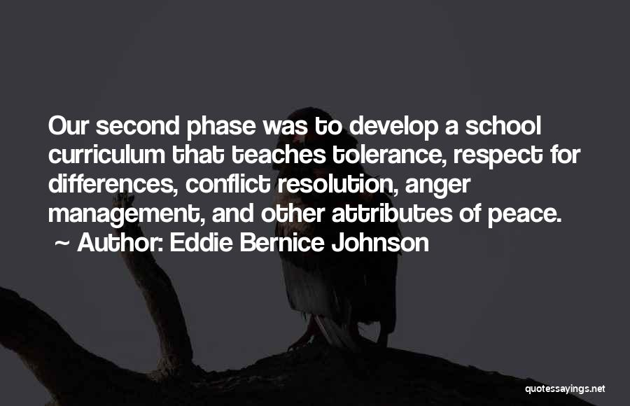 Tolerance And Respect Quotes By Eddie Bernice Johnson