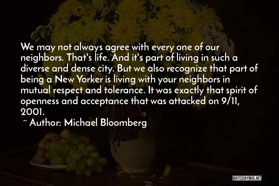 Tolerance And Respect Quotes By Michael Bloomberg