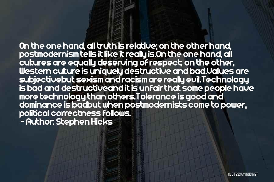 Tolerance And Respect Quotes By Stephen Hicks