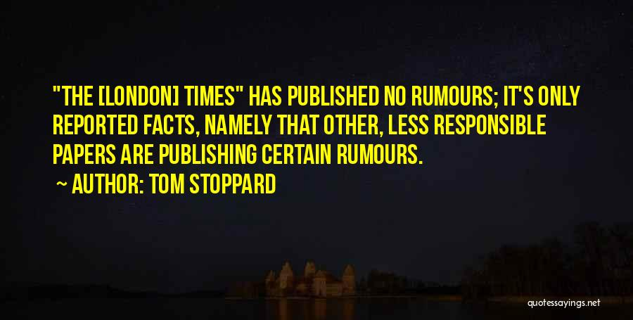 Tom Stoppard Quotes 120420