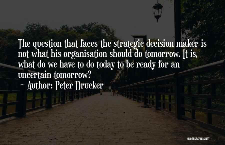 Tomorrow Is Uncertain Quotes By Peter Drucker