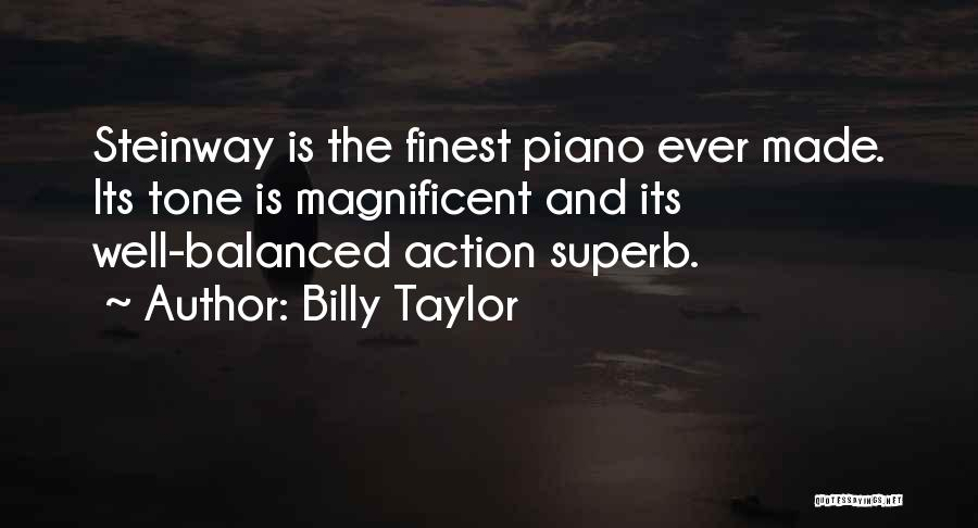 Tone Quotes By Billy Taylor