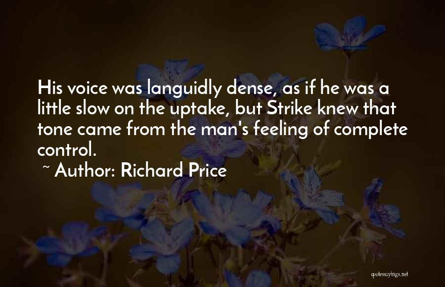 Tone Quotes By Richard Price