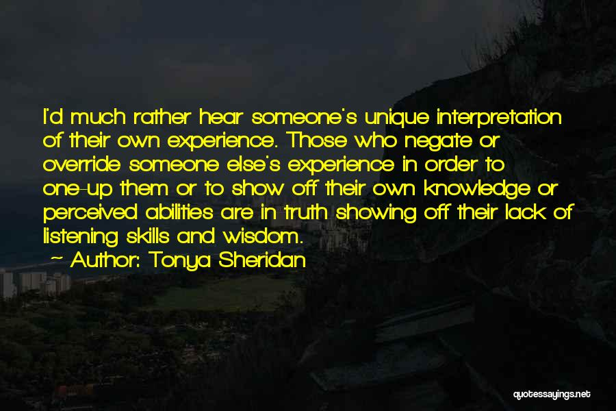 Tonya Sheridan Quotes 729528