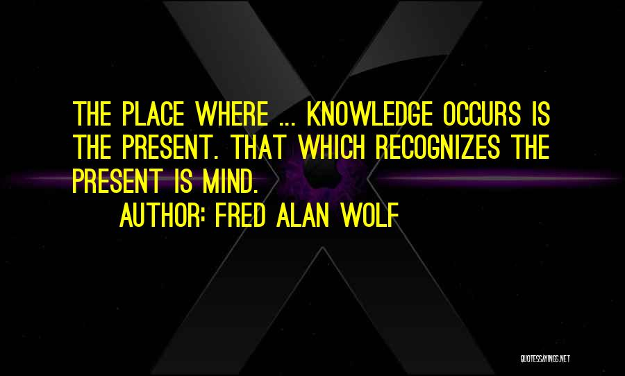 Too Many Things On My Mind Quotes By Fred Alan Wolf
