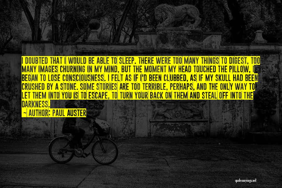 Too Many Things On My Mind Quotes By Paul Auster