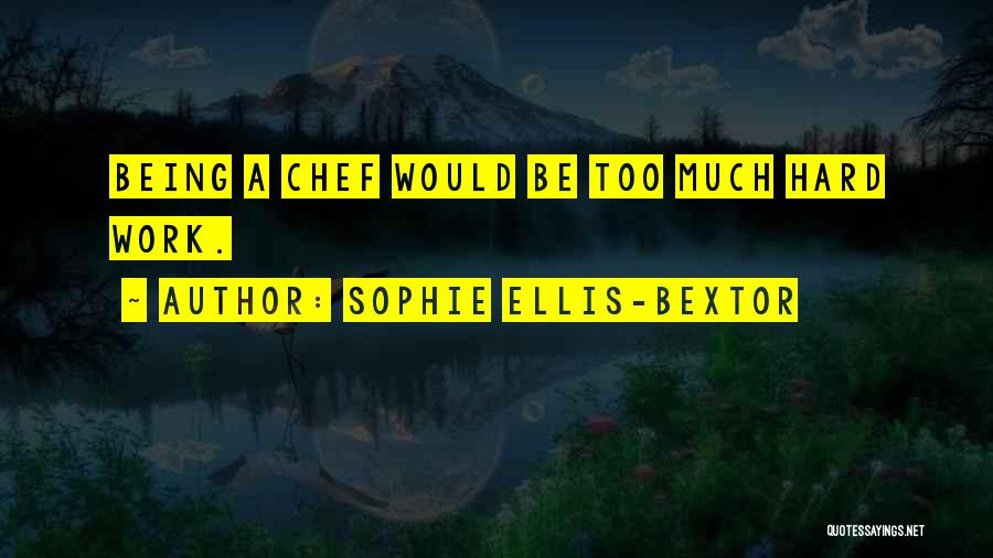 Too Much Hard Work Quotes By Sophie Ellis-Bextor