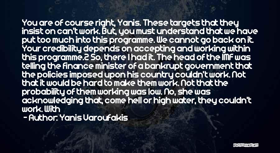 Too Much Hard Work Quotes By Yanis Varoufakis
