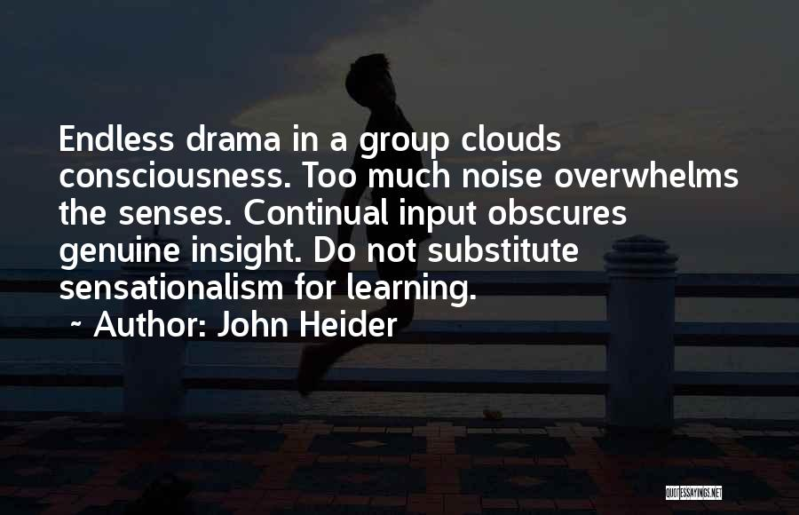 Too Much Noise Quotes By John Heider
