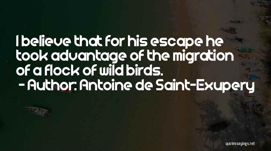 Took Advantage Of Quotes By Antoine De Saint-Exupery