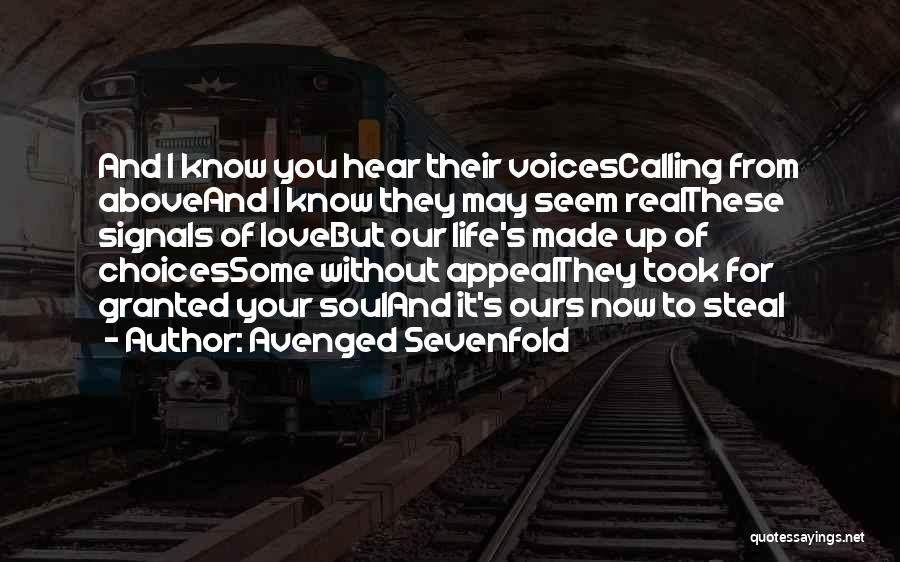 Took You For Granted Quotes By Avenged Sevenfold