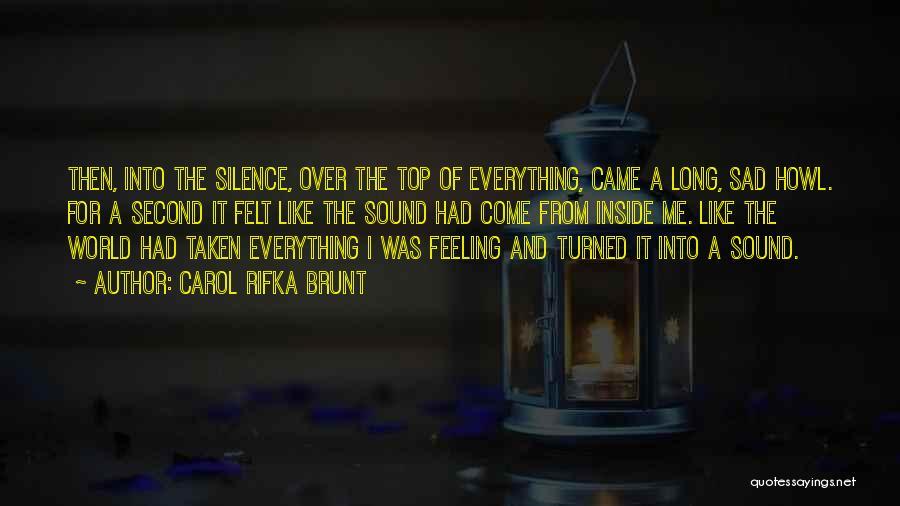 Top Most Sad Quotes By Carol Rifka Brunt