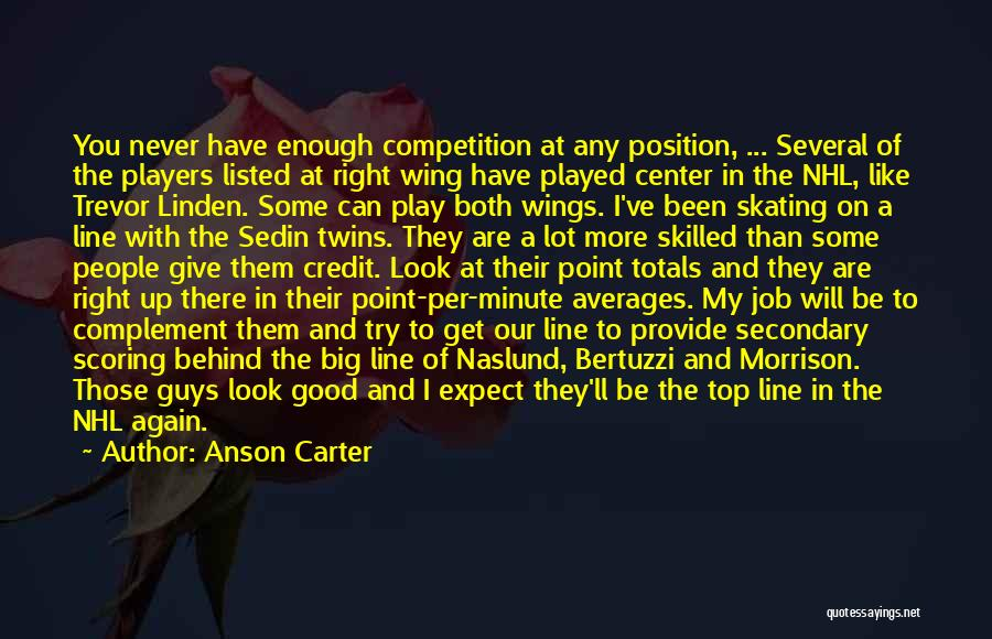 Top Never Give Up Quotes By Anson Carter