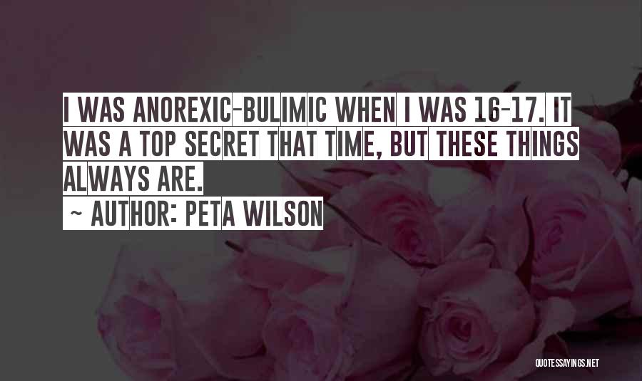 Top Secret Quotes By Peta Wilson