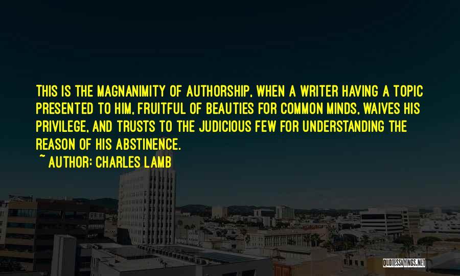 Topics Quotes By Charles Lamb