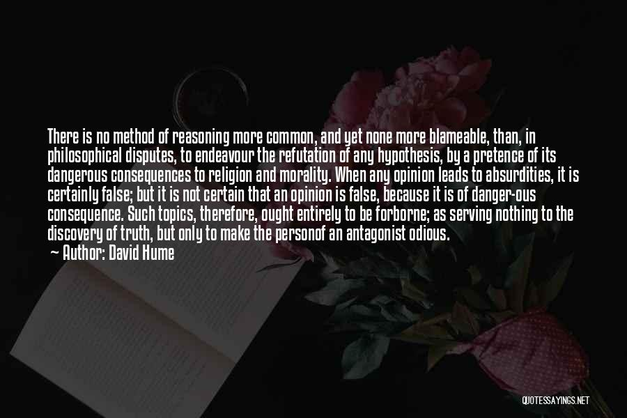 Topics Quotes By David Hume