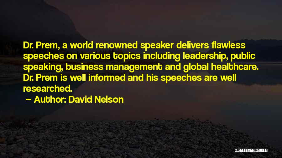 Topics Quotes By David Nelson