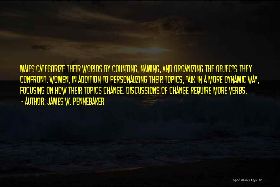 Topics Quotes By James W. Pennebaker