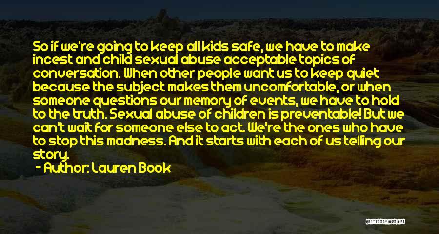 Topics Quotes By Lauren Book