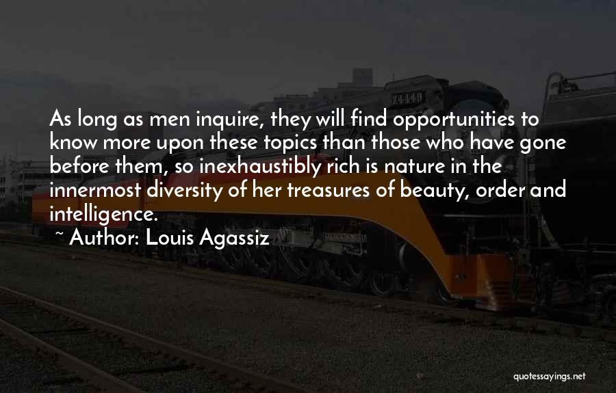 Topics Quotes By Louis Agassiz