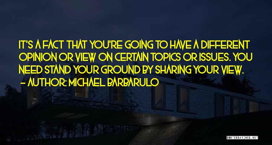Topics Quotes By Michael Barbarulo