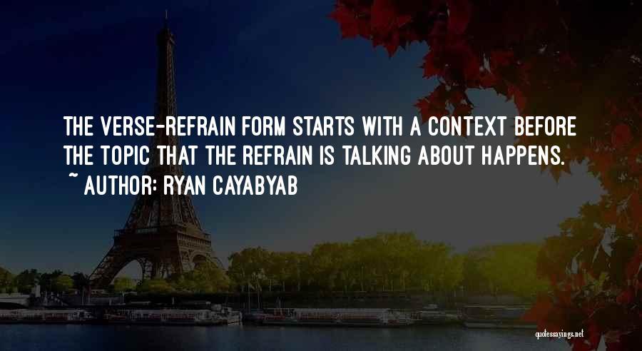 Topics Quotes By Ryan Cayabyab