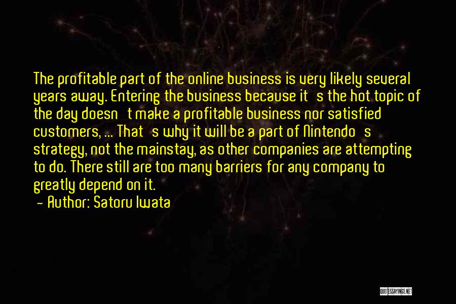 Topics Quotes By Satoru Iwata