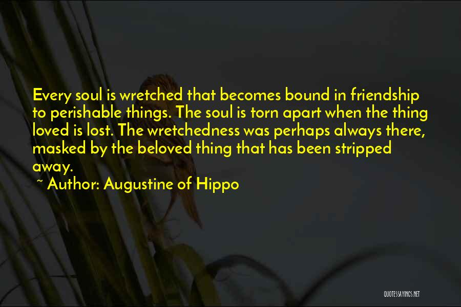 Torn Apart Quotes By Augustine Of Hippo