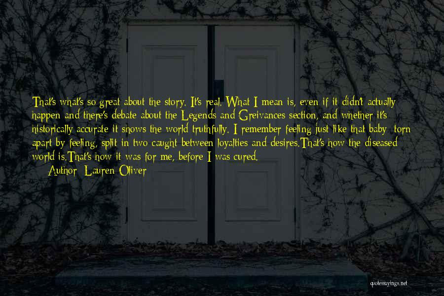 Torn Between Two Quotes By Lauren Oliver