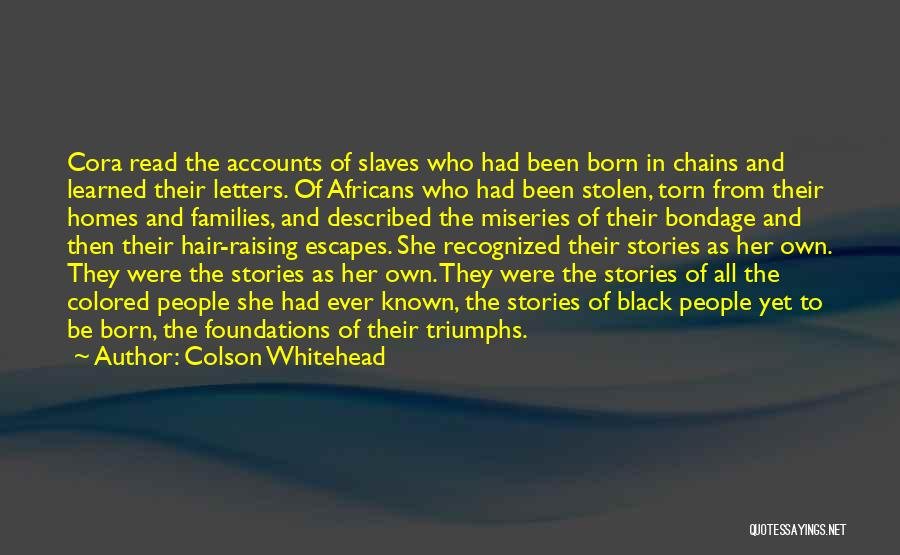 Torn Families Quotes By Colson Whitehead