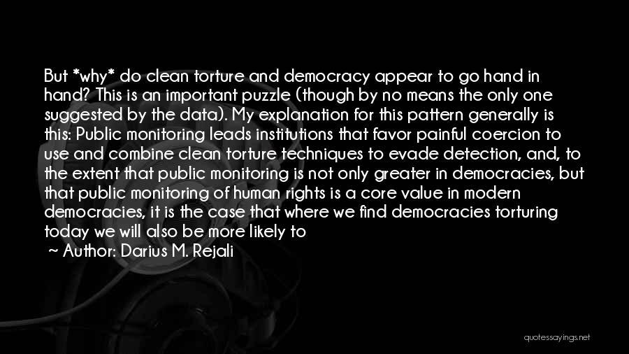 Torturing Someone Quotes By Darius M. Rejali