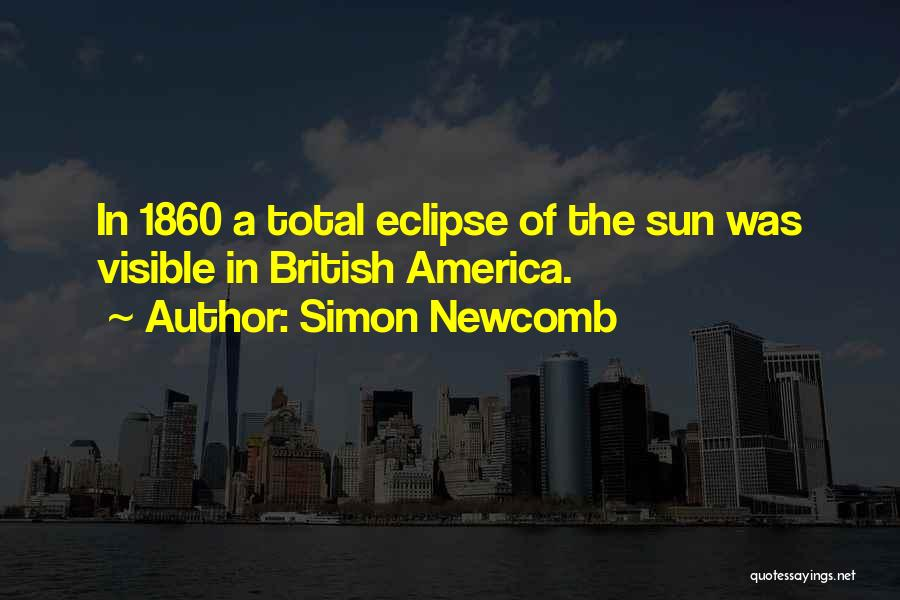 Total Eclipse Quotes By Simon Newcomb