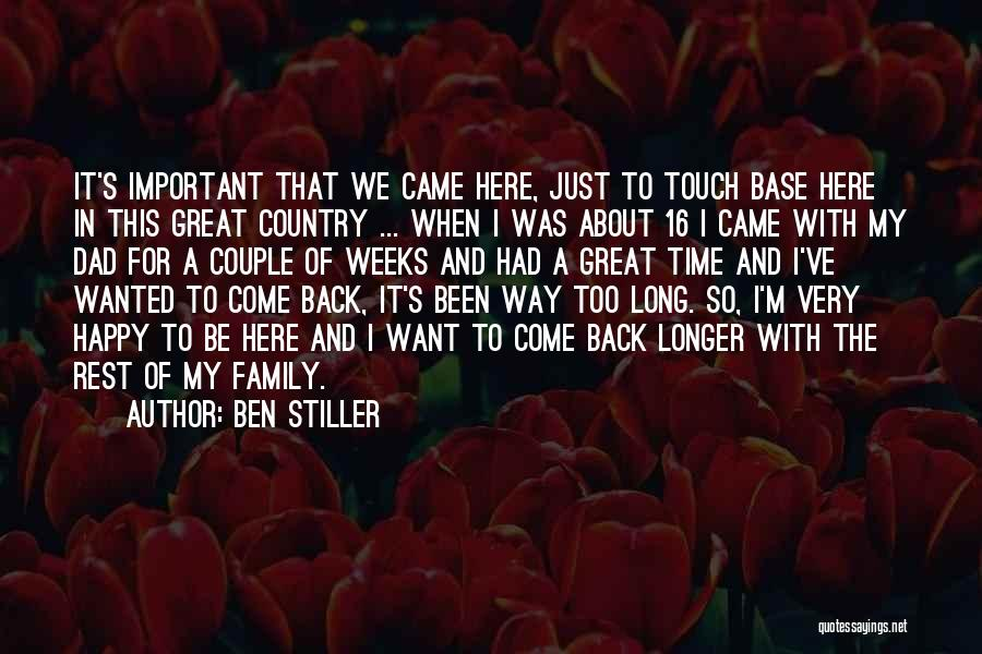 Touch My Family Quotes By Ben Stiller
