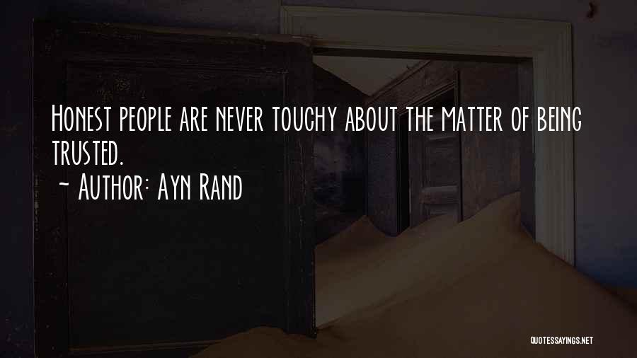 Touchy Quotes By Ayn Rand