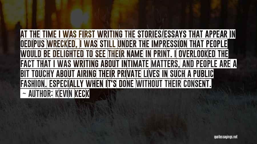 Touchy Quotes By Kevin Keck