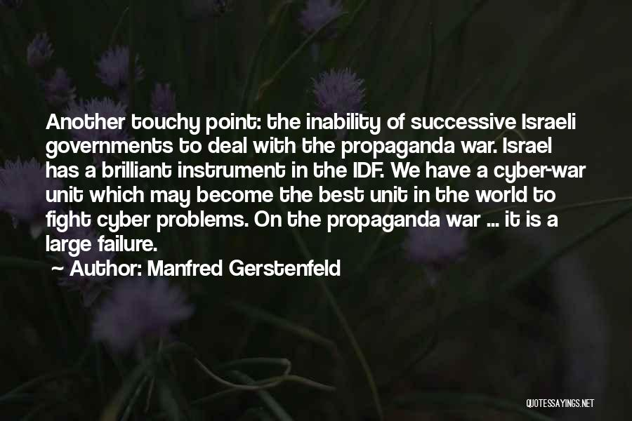 Touchy Quotes By Manfred Gerstenfeld