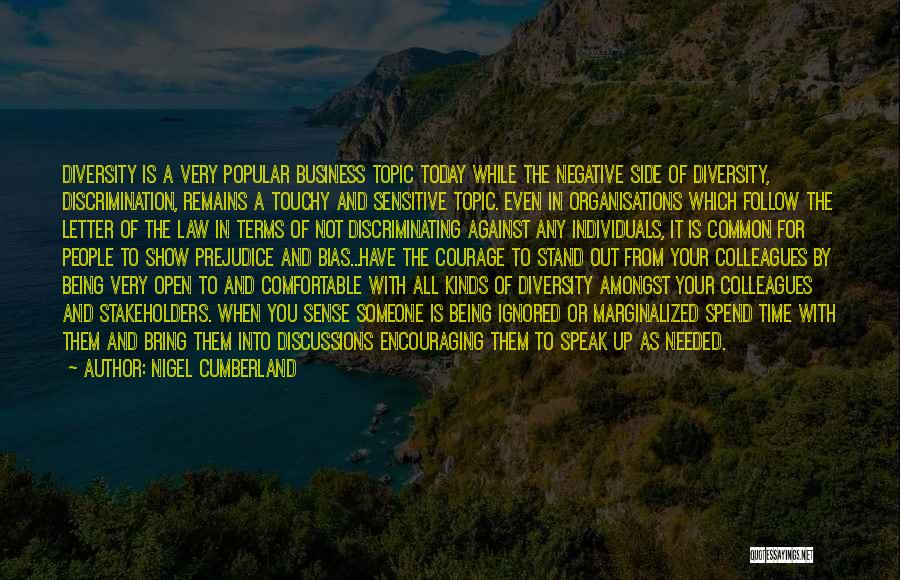 Touchy Quotes By Nigel Cumberland