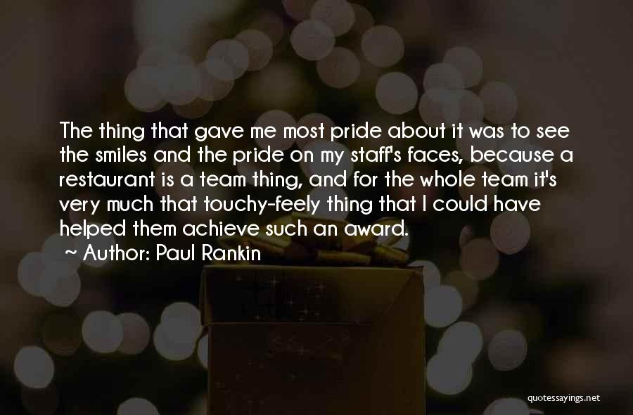 Touchy Quotes By Paul Rankin
