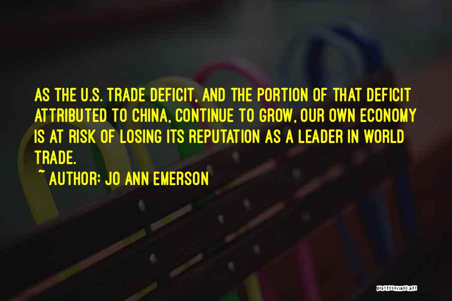 Trade In Quotes By Jo Ann Emerson