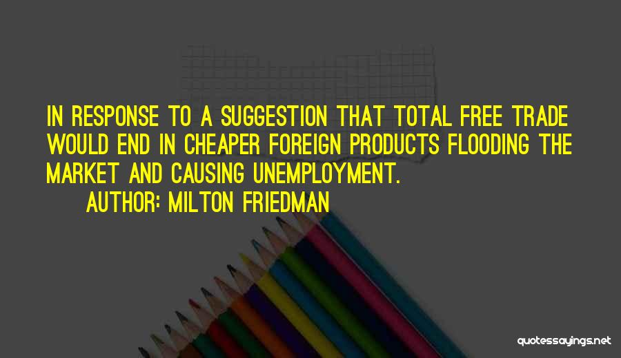 Trade In Quotes By Milton Friedman