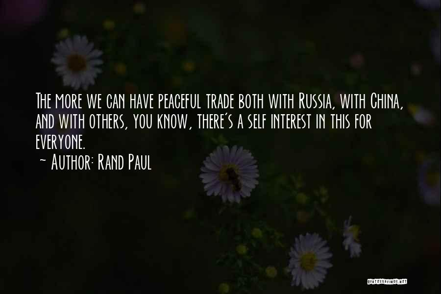 Trade In Quotes By Rand Paul