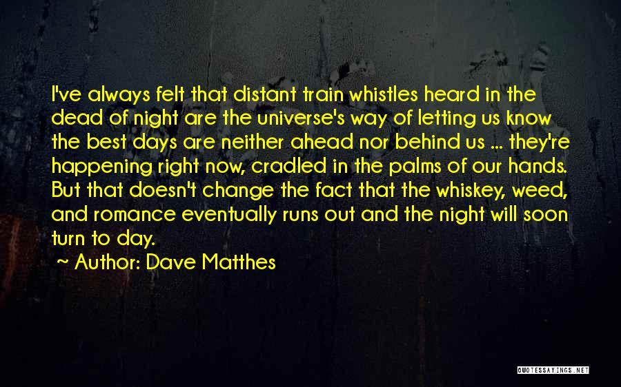 Train And Love Quotes By Dave Matthes