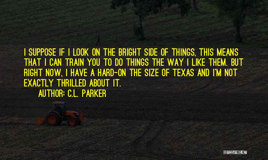 Train Way Quotes By C.L. Parker