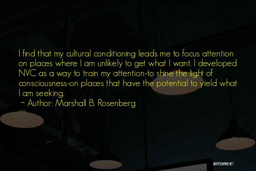 Train Way Quotes By Marshall B. Rosenberg