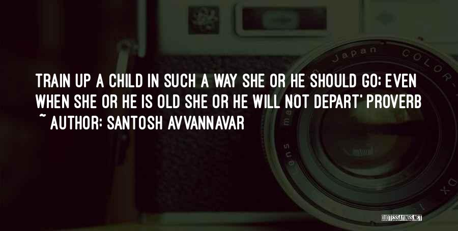 Train Way Quotes By Santosh Avvannavar