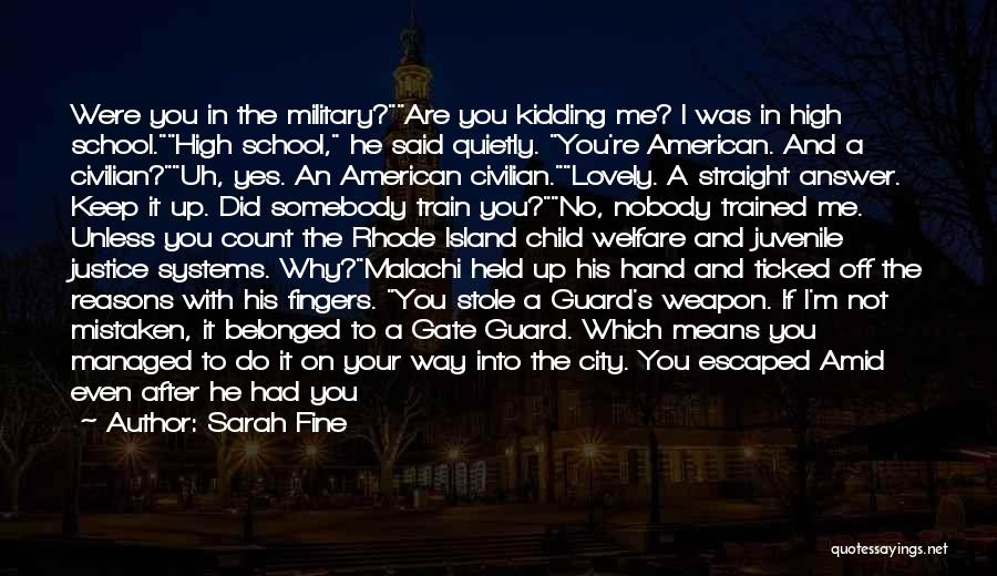 Train Way Quotes By Sarah Fine