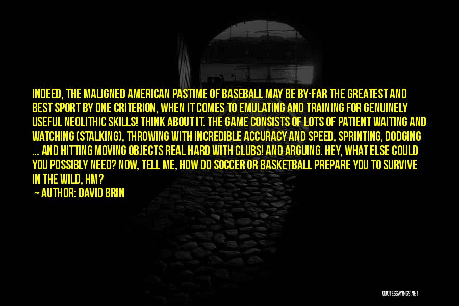 Training Hard Quotes By David Brin