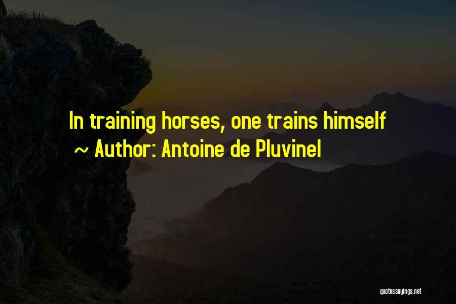 Training Horses Quotes By Antoine De Pluvinel
